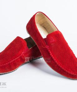 Мокасины Level (замш) Красные