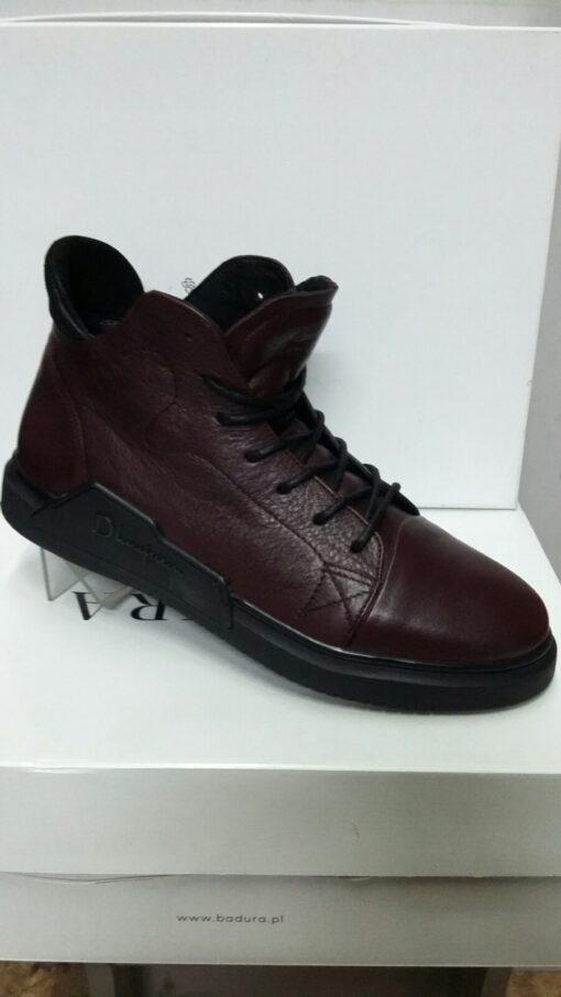 Ботинки зимние кожаные КАDAR(3568844) Бордо шерсть