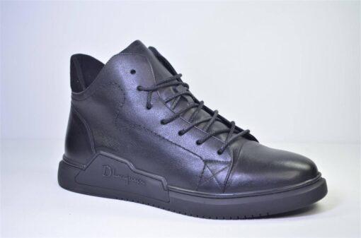 Ботинки зимние кожаные черные KADAR (3568942) шерсть